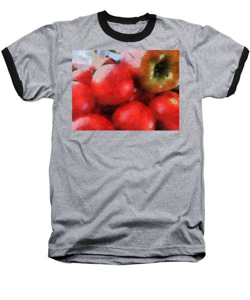 Tomatoes And Apple Baseball T-Shirt