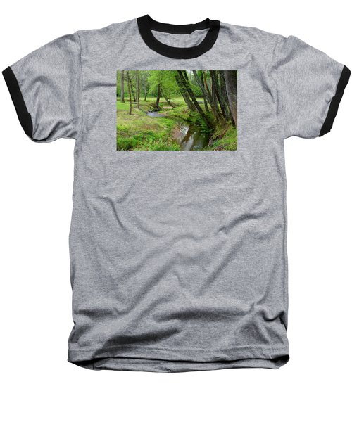 Baseball T-Shirt featuring the photograph Toms Creek In Early Spring by Kathryn Meyer