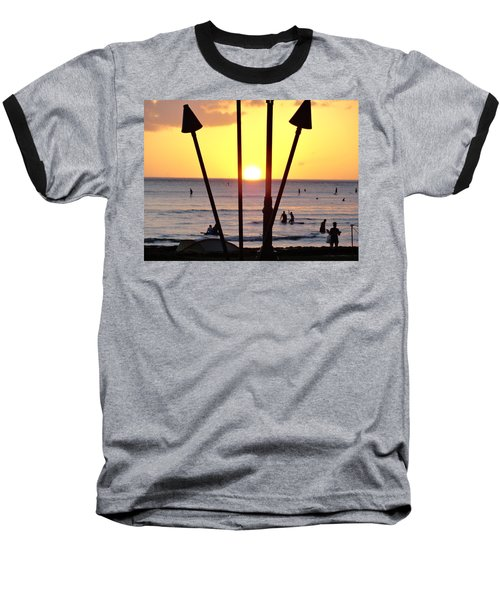 Torched Sunset Baseball T-Shirt