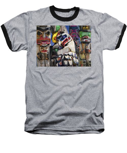 Totem Poles In The Pacific Northwest Baseball T-Shirt
