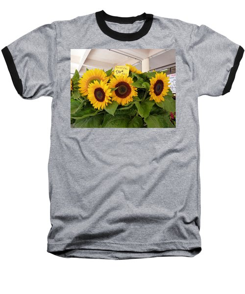 Baseball T-Shirt featuring the photograph Tournesol by Carla Parris
