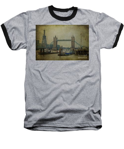 Baseball T-Shirt featuring the photograph Tower Bridge. by Clare Bambers