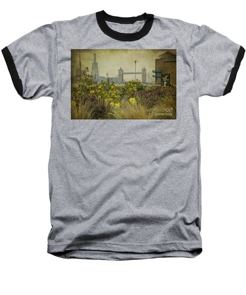 Baseball T-Shirt featuring the photograph Tower Bridge In Springtime. by Clare Bambers