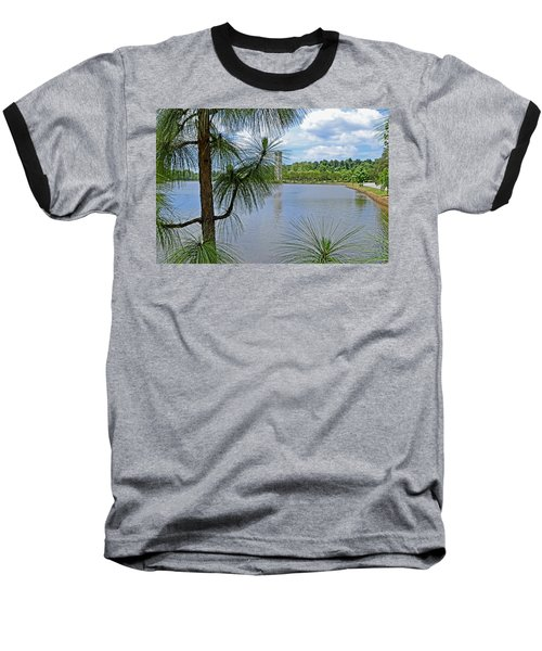 Baseball T-Shirt featuring the photograph Tower Thru The Pine by Larry Bishop