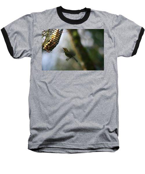 Townsend Warbler In Flight Baseball T-Shirt by Kym Backland
