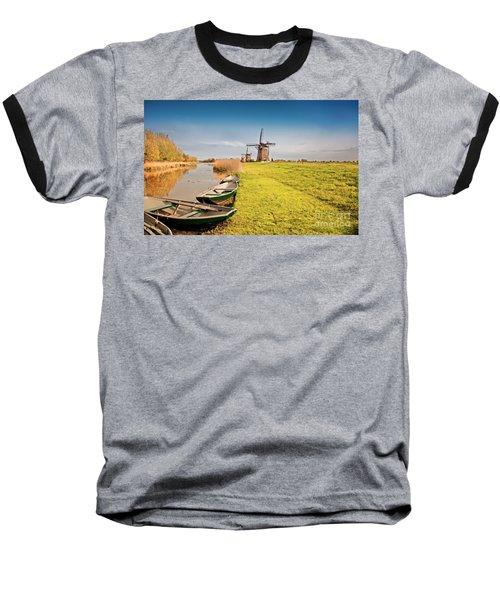 Traditional  Dutch Landscape Baseball T-Shirt
