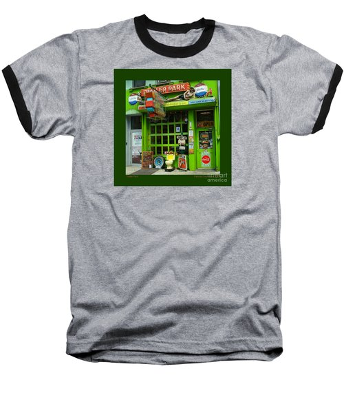 Trailer Park Baseball T-Shirt by Patricia Overmoyer