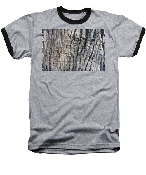 Baseball T-Shirt featuring the photograph Tree Bark No. 1 Stress Lines by Lynn Palmer