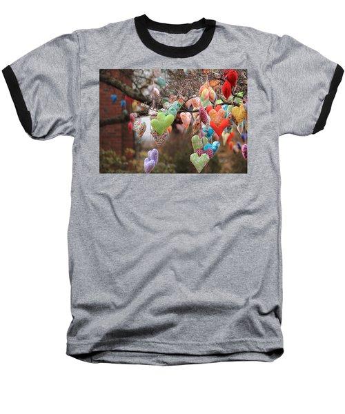 Tree Hearts Baseball T-Shirt