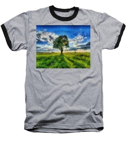 Baseball T-Shirt featuring the painting Tree Of Life by Joe Misrasi