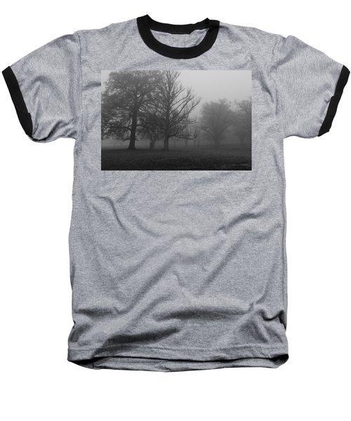 Baseball T-Shirt featuring the photograph Trees And Fog by Maj Seda