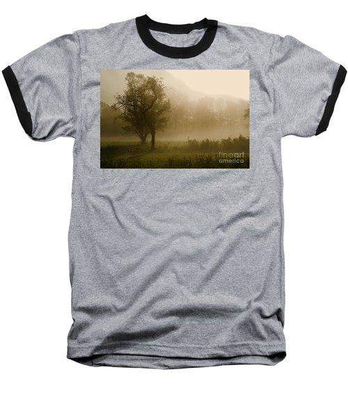 Trees And Fog Baseball T-Shirt