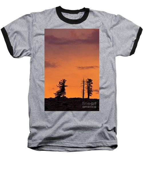 Trees At Sunset Baseball T-Shirt