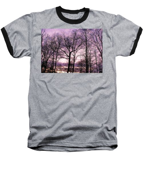 Baseball T-Shirt featuring the photograph Trees In Glorious Calm by Pamela Hyde Wilson