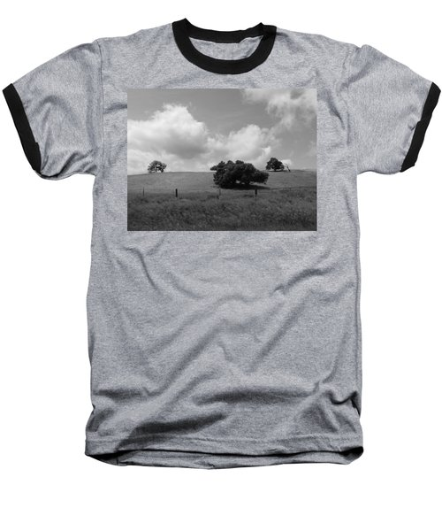 Baseball T-Shirt featuring the photograph Trees On The Hillrise by Kathleen Grace