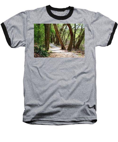 Baseball T-Shirt featuring the photograph Trestle Walk by Kathryn Meyer