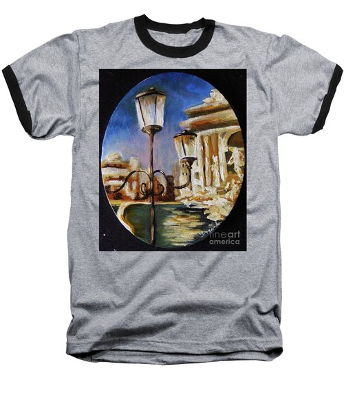 Trevi Fountain Baseball T-Shirt