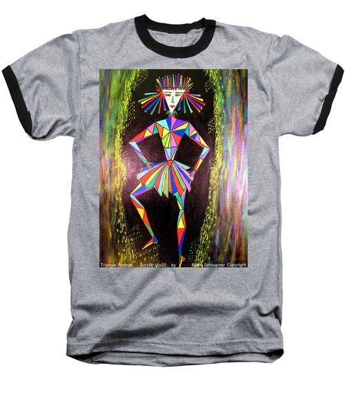 Triangle Woman Baseball T-Shirt