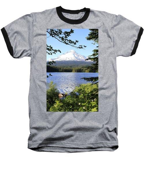 Baseball T-Shirt featuring the photograph Trillium Lake At Mt. Hood by Athena Mckinzie