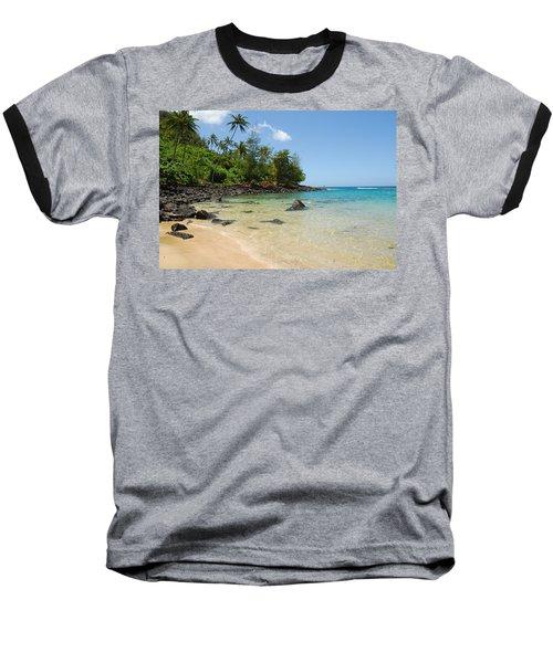 Tropical Paradise Baseball T-Shirt by Lynn Bauer