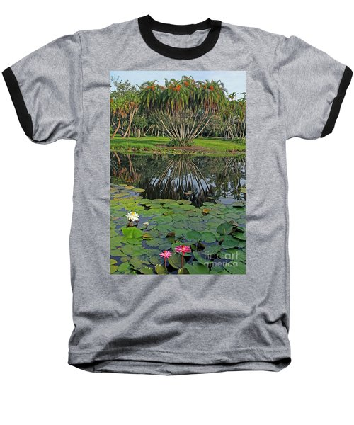 Tropical Splendor Baseball T-Shirt by Larry Nieland