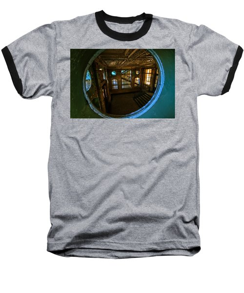 Trough The Round Window Baseball T-Shirt by Nathan Wright