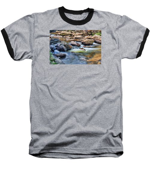 Baseball T-Shirt featuring the digital art Trout Stream by Mary Almond
