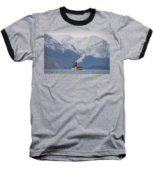 Tss Earnslaw Steamboat Against The Southern Alps Baseball T-Shirt
