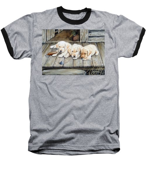 Tuckered Out Trio  Sold  Prints Available Baseball T-Shirt