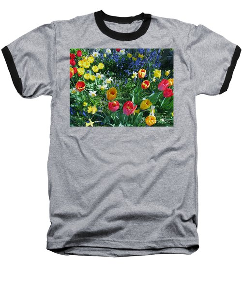 Baseball T-Shirt featuring the photograph Tulips Dancing by Rory Sagner
