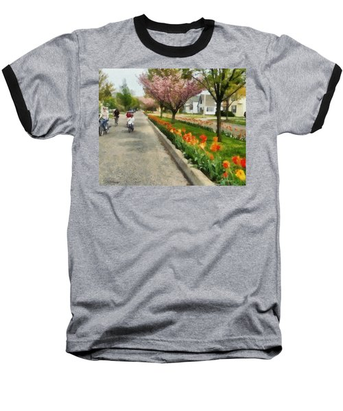 Tulips On The Boulevard Holland Michigan Baseball T-Shirt