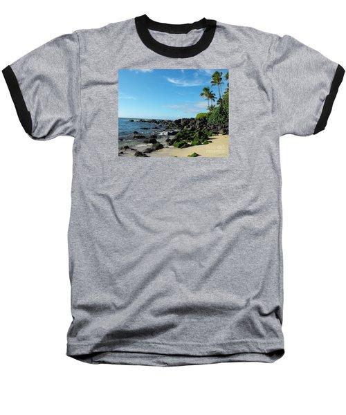 Turtle Beach Oahu Hawaii Baseball T-Shirt by Rebecca Margraf