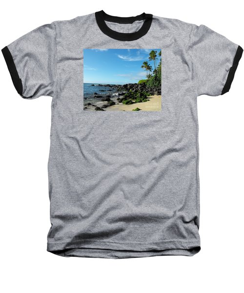 Turtle Beach Oahu Hawaii Baseball T-Shirt