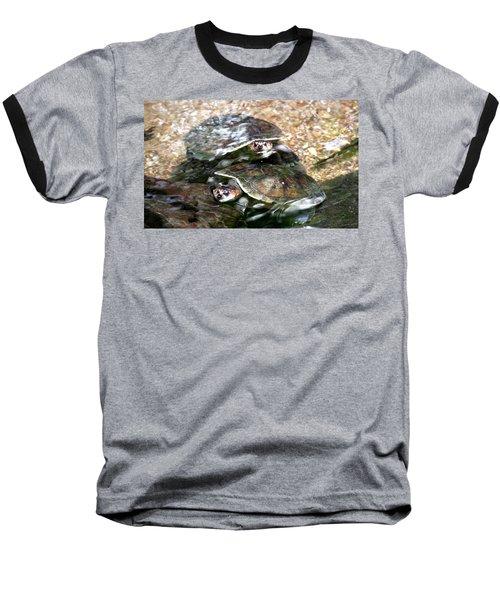 Turtle Two Turtle Love Baseball T-Shirt