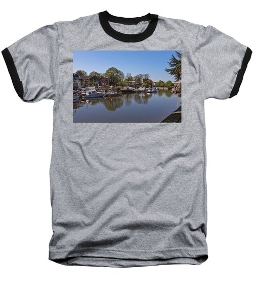 Baseball T-Shirt featuring the photograph Twickenham Marina by Maj Seda