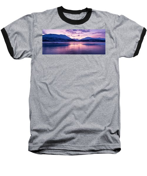 Twilight Above A Fjord In Norway With Beautifully Colors Baseball T-Shirt