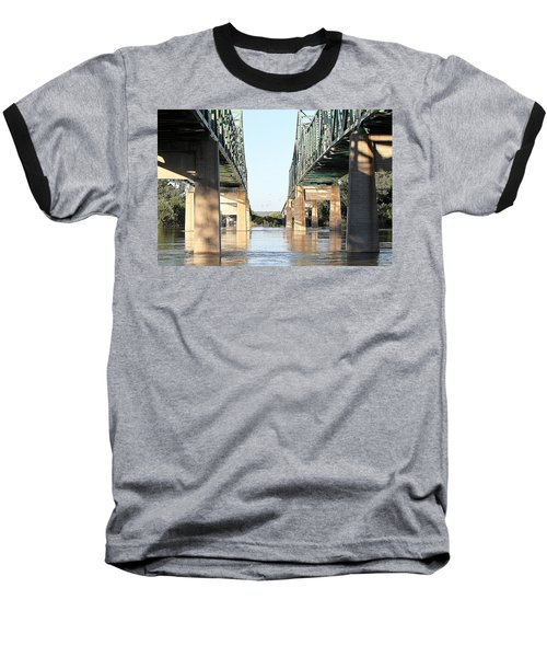 Baseball T-Shirt featuring the photograph Twin Bridges by Elizabeth Winter