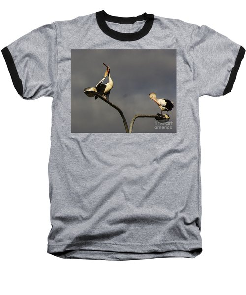 Baseball T-Shirt featuring the photograph Two On A Pole by Blair Stuart