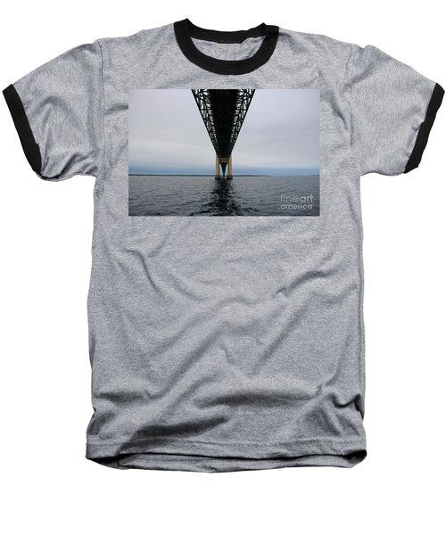 Under The Mackinac Bridge Baseball T-Shirt