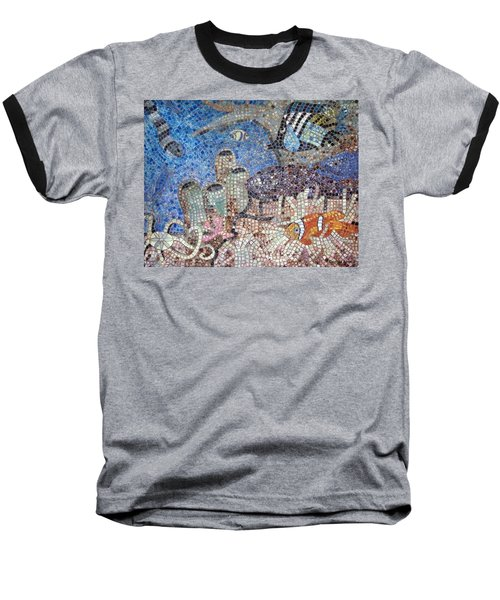 Baseball T-Shirt featuring the painting Under The Sea by Cynthia Amaral