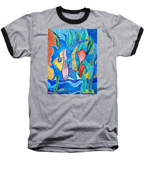 Under The Sea Baseball T-Shirt by Sandra Lira