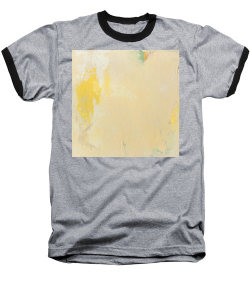 Untitled Abstract - Bisque With Yellow Baseball T-Shirt