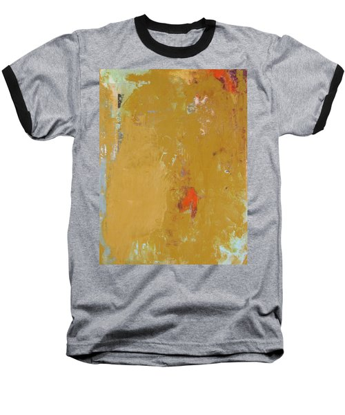 Untitled Abstract - Ochre Cinnabar Baseball T-Shirt