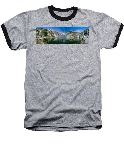 Upper Canyon Creek Lake Panorama Baseball T-Shirt