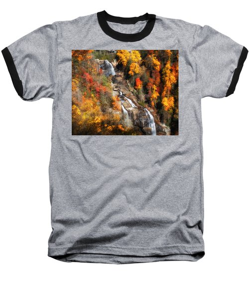 Upper Whitewater Falls Baseball T-Shirt