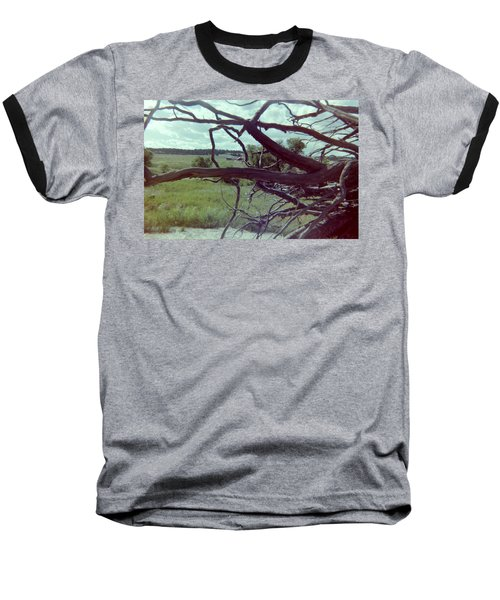 Baseball T-Shirt featuring the photograph Uprooted by Bonfire Photography
