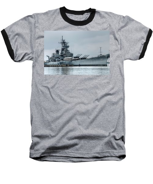 Uss New Jersey Baseball T-Shirt by Jennifer Ancker