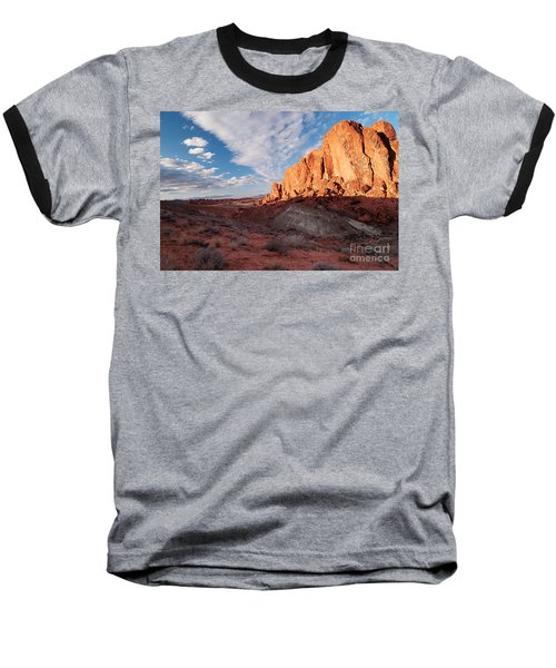Baseball T-Shirt featuring the photograph Valley Of Fire by Art Whitton
