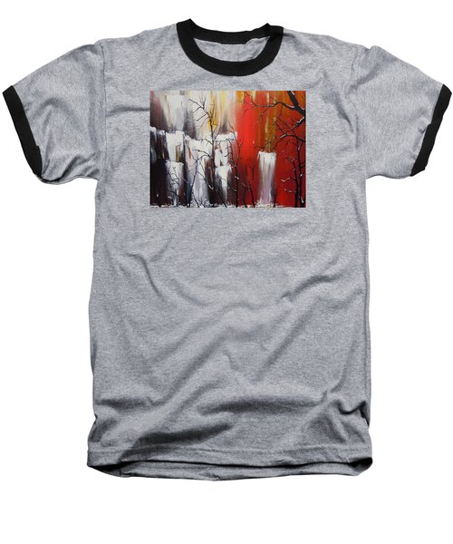Baseball T-Shirt featuring the painting Valley Of Shadows by Dan Whittemore