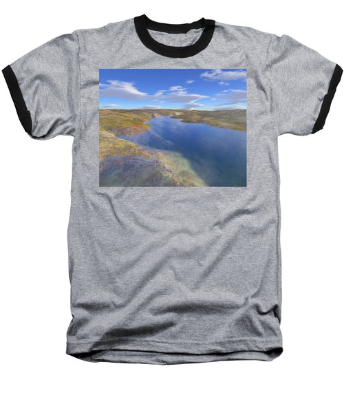 Valley Stream 2 Baseball T-Shirt by Mark Greenberg